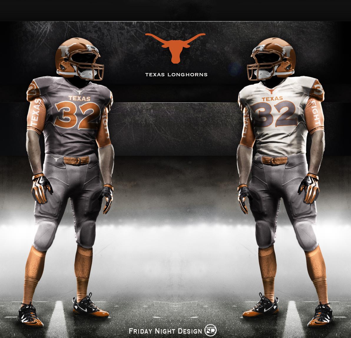 new arrival 28f62 93db2 Texas Longhorn Uniform Concept Designs
