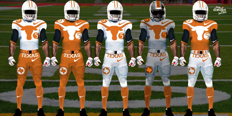 texas longhorns concept design uniform