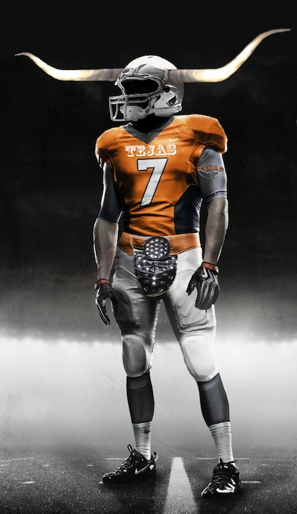 ut austin texas longhorns uniform concept