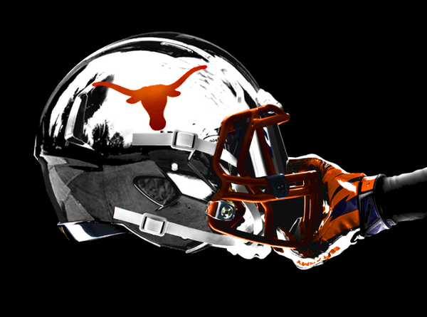 texas longhorn concept helmet football
